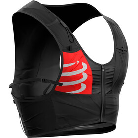 Compressport Ultrun Rugzak met 2 Ergo Flessen, black-red-white